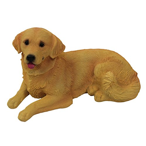 1Plus-poliresina-figuras-Jardn-Figura-perro-Golden-Retriever-pintado-a-mano-Jardn-Decoracin-Animales-resina-decoracin-figuras-0