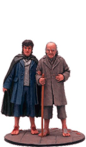 Lord-Of-The-Rings-Figura-de-Plomo-El-Seor-de-los-Anillos-Lord-of-the-Rings-Collection-N-82-Frodo-And-Bilbo-At-The-Grey-Havens-0