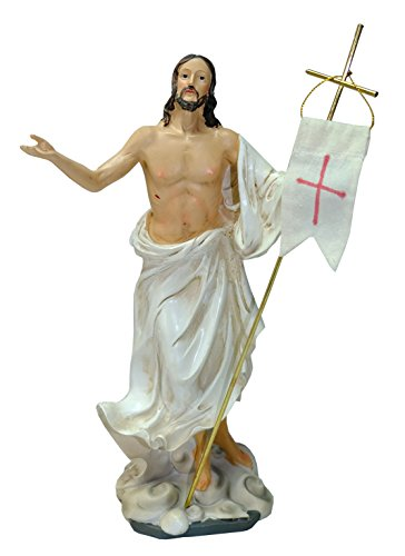 Kaltner-Prsente--Regalo-Idea--Figura-de-Cristo-Jess-con-bandera-Oster-Resurreccin-Jess-auferstehungschristus-0