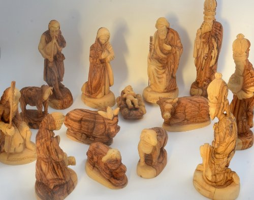 Set-de-Beln-figuras-estilo-clsico--Juego-completo-Altura-23-cm-906-Pulgadas-14-piezas-De-madera-de-olivo-tallada-a-mano-en-la-tierra-santa-0-3